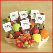 Fruit & Snacks Gourmet Gift Basket