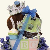 Baby's 1st Birthday Bash Baby Boys Gift Basket