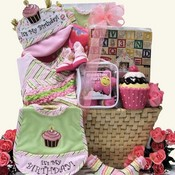 Baby's 1st Birthday Big Bash Baby Girl's Gift Basket