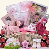 Baby's 1st Piggy Baby Girls Gift Basket