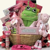 Celebrate The New Arrival Baby Girls Gift Basket