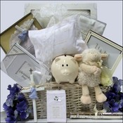 Blessed Baby Christening Baby Boys Gift Basket ~ Deluxe Edition