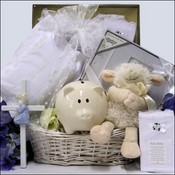 Blessed Baby Christening Baby Boys Gift Basket