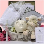 Blessed Baby Christening Baby Girls Gift Basket