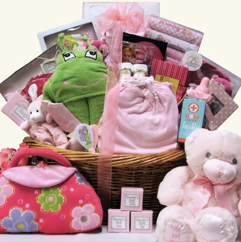 Baby's Biggest Welcome Baby Girls Deluxe Gift Basket