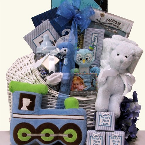 A King Is Born Baby Boys Gift Basket