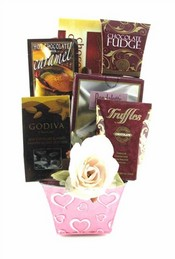 Mother's Day Delectable Coffee & Chocolate Gift Basket