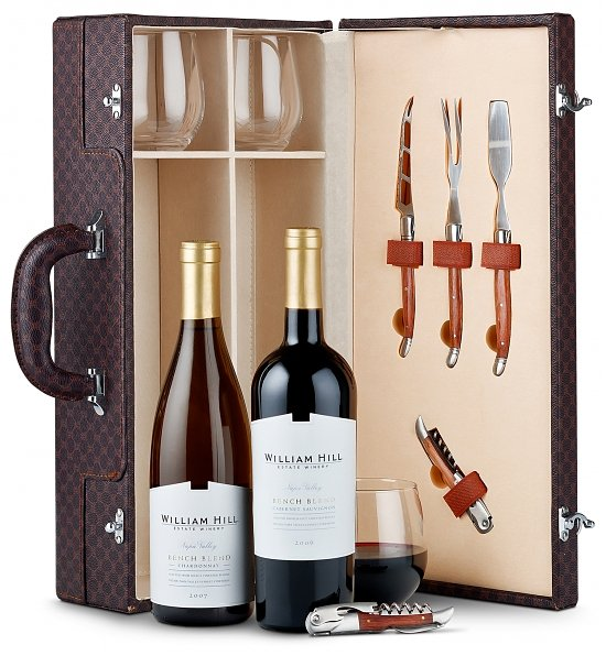 Willam Hill Duo Wine Tote & Accessories 2 Wine Gift Tote