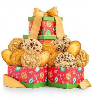 Christmas Cookies Gift Tower