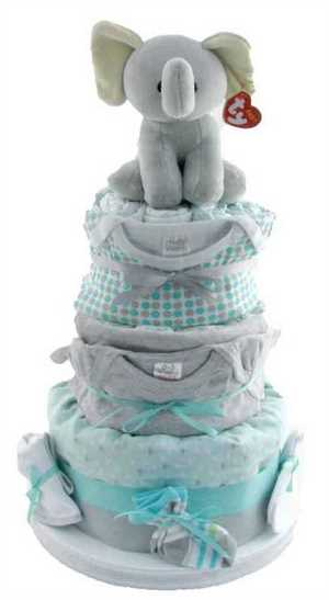 Pink Strawberries Kaloo Diaper Cake
