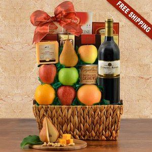 Deluxe Red Wine & Fresh Fruit