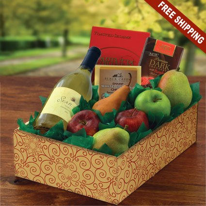 Wine & Fruit Picnic 1 Wine & Gourmet Gift Box