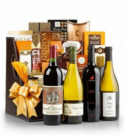 4 Bottles Wine Gift Baskets USA