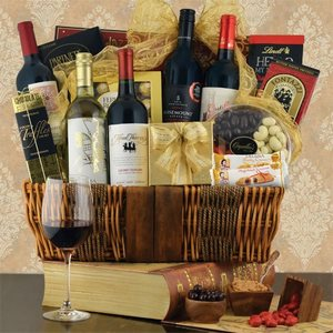 5 Bottle Wine Gift Baskets USA